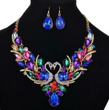 Sets Betsey Johnson Fashion Colorful Crystal swan Necklace and Stud Earring Hot