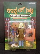 """New In Package! Crazy Cat Lady 5.5"""" Action Figure w/ 6 Cat & Kitten Figures 2004"""