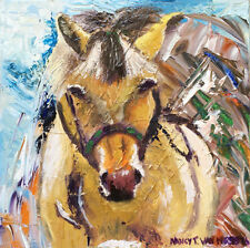 """Horse 8""""x8"""" Limited Edition Oil Painting Print Signed Art Artist Home Decor"""
