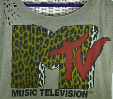 "MTV Destroyed T-Shirt L 44"" Chest Mens Unisex Fishbone New Yorker Licensed Merch"