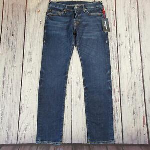 Men's True Religion Jeans 32 Waist 33 Leg Rocco Relaxed Slim Fit Blue RRP £169