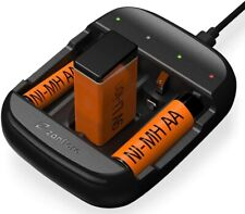 ZANFLARE C4A Batterijlader - Universeel - Oplaadstation - Lithium-Ion - Zwart