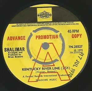 Shalimar - Kentucky River Line 1970 UK Promo 45 VG