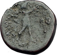 APAMEIA in PHRYGIA 300BC Rare Authentic Greek Coin Apollo MARSYAS Flutes i63645
