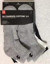 Under Armour Charged Cotton 2.0 - 6-Pair Quarter Crew Socks X-Large  Assorted