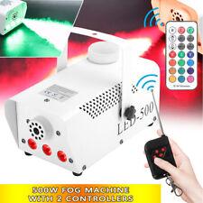 500W Nebelmaschine RGB LED Rauch Show DJ Bühneneffekt Disco 2 Fernbedienung Weiß
