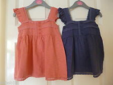 Girls' Square Neck No Pattern Sleeveless T-Shirts & Tops (2-16 Years)