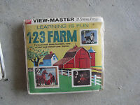 Vintage 1960s GAF Viewmaster Learning is Fun 1 2 3 Farm Set NIP