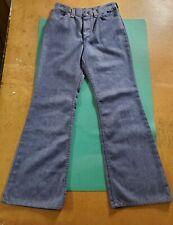 Vintage 1970s Bell Bottom Jeans Womens Size 11/12 Usa High Waist Maverick