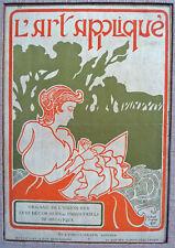 GISBERT COMBAZ - ORIGINAL VINTAGE - L'Art Applique Review Cover - 1896