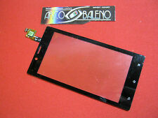 Kit VETRO TOUCH SCREEN per SONY XPERIA J ST26 ST26i NERO Nuovo per DISPLAY LCD
