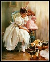 Play Cats - Chart Counted Cross Stitch Patterns Needlework DIY Embroidery