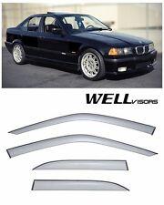 For 92-98 BMW E36 3-Series WellVisors Side Window Visors Premium Seris
