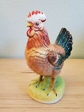 Ceramic Rooster Vintage Kitschy Norcrest an Art project needs Paint Touch Ups