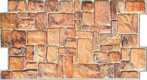 """Natural Stone Backsplash Panel - 39"""" x 19 1/2"""" PVC  Wall Tile"""