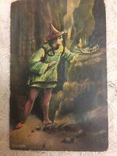 "Vintage ""Aladdin and his Lamp"" Rare Postcard Postmarked 1908"