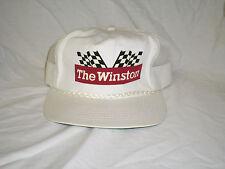 Vintage The Winston Snapback Hat White Rope Nascar Trucker Mesh White