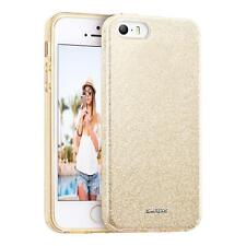 Handy Hülle Tasche Apple iPhone 5 S SE Silikon Schutz Cover Glitzer Slim Case