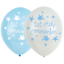 1st/FIRST COMMUNION Blue/Boy PARTY DECORATIONS %7bAmscan%7d(Banner, Balloon, Swirl)