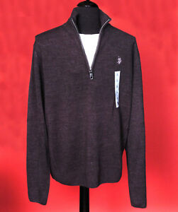 New U.S. Polo Assn. Mock Neck Long Sleeve Pullover Sweater - L LARGE  NWT