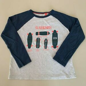 """MINI BODEN AWESOME Boys """" SKATEBOARS"""" Long Sleeve Shirt. 8-9 Years. 140 cm. Cool"""