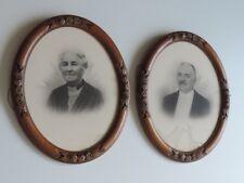 2 vecchie cornici SPECCHIO QUADRO quercia Francia per ca 1920