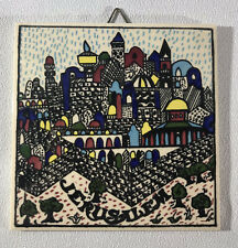 Vintage H&R Johnson Ceramic Tile Jerusalem - Nice Art Work Possible Trivet