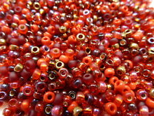 8/0 Magma Mix Miyuki Glass Round Seed Beads 10 Grams