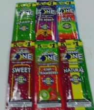 HEMP ZONE WRAPS 6 DIFFERENT FLAVORS ONE OF EACH FOR 30 WRAPS NO TOBACCO