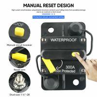 Car Circuit Breaker Fuse Reset 30-300 Amp 12V-24V DC Car Boat Auto Waterproof LC