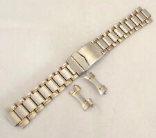 bracciale acciaio bicolor maglia sea chiusura di sicurezza sub ansa curva 22 mm