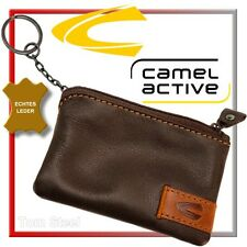 camel active Cartera Para Llaves Cuero marrón oscuro estuche NUEVO