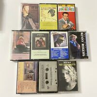 Lot of 10 Classic Country Western Cassette Tapes George Strait Reba Tanya Kenny