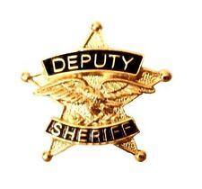 Deputy Sheriff Tie Tac 5 Point Star Eagle Officer Premier No Stone P3802G New