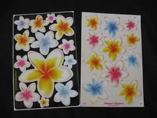 2 SHEETS OF ASSORTED FRANGIPANI STICKERS/DECALS