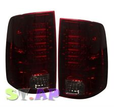 2009-2015 Dodge Ram 1500 2500 3500 Led Tail Light Signal Lamp 2Pc Red Smoke