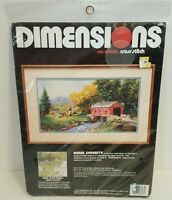 Cross Stitch Kit From Dimensions No Count Rural Serenity Covered Bridge 3965 NEW