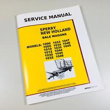 NEW HOLLAND 1000 1005 1010 1012 STACKLINER BALE WAGON SERVICE REPAIR MANUAL