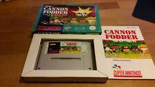 Cannon Fodder Super Nintendo SNES OVP PAL CIB Boxed #2