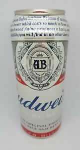 BUDWEISER Collectible Beer Can King of Beers Empty 500 ml Bottom Opened VIETNAM