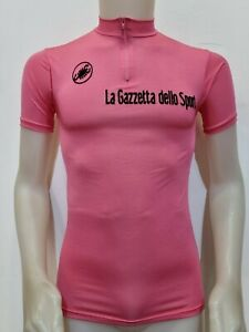 MAGLIA SHIRT CICLISMO ROSA ANNI 80' CASTELLI CYCLISTE CYCLING JERSEY ITALY MB331