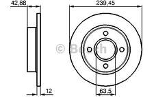 BOSCH Juego de 2 discos freno Antes 239,5mm FORD FIESTA KA MAZDA 0 986 478 856
