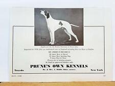 German Shorthaired Pointer Prune's Own Kennels Champion 1940 Art Print Ad N3