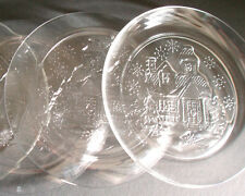 Avon Set of 4 Home for Holiday Plates President's CLub 1994 Winter Scene LOT