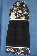 **NEW** NFL Baltimore Ravens Football Black Hanging Kitchen Hand Towel #1287