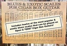 Blues & Exotic Scales Poster for 3-string Open G (GDG) Cigar Box Guitars