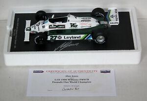 Spark Williams FW07B Alan Jones World Champion Signed Certificated 1/18 18S117