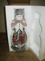 RARE ~ QVC ~ Valerie Parr Hill ~ ILLUMINATED CHRISTMAS SNOWMAN / NEW NEVER USED