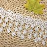 1 Yard Weiß Star Quaste Stickerei Spitze Stoff Trim DIY Kleidung Nähen Zubehör