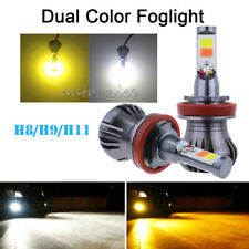 2Pcs H8 LED Car Fog Driving Light DRL Bulb High Power Xenon White&Amber Decoder